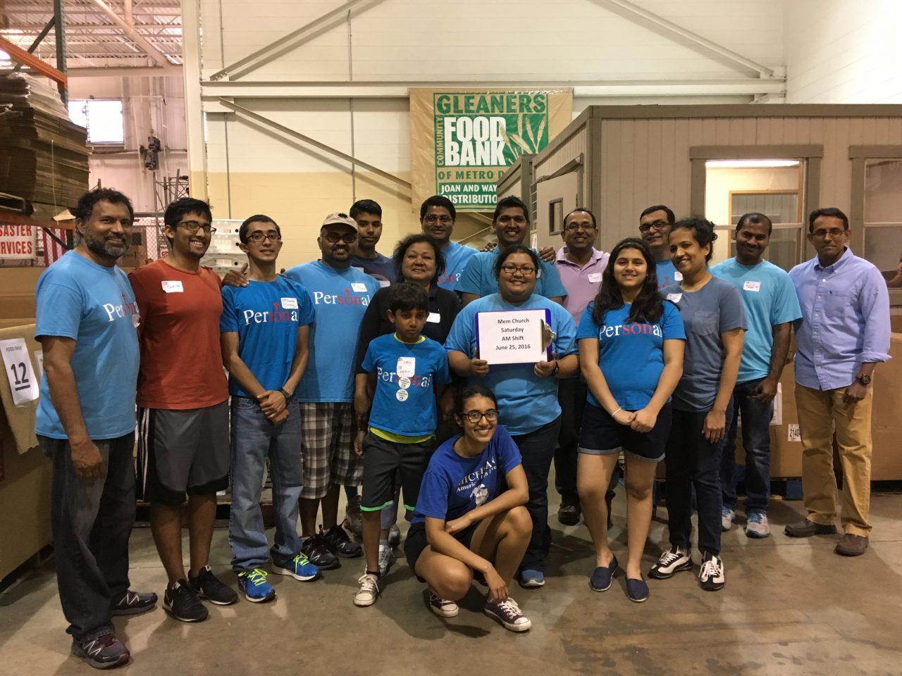 Volunteering at Gleaners June 2016